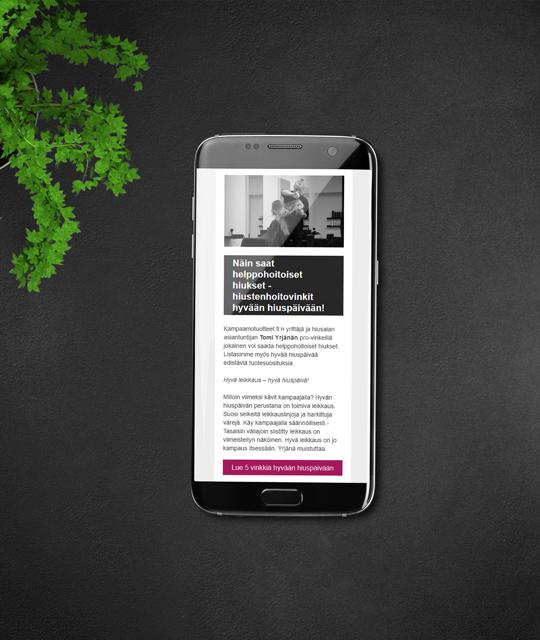 Kampaamotuotteet.fi sähköpostimarkkinointi